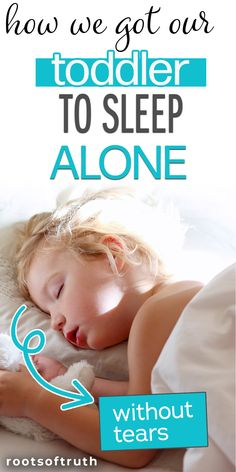 How do you get a toddler to sleep in their own bed? The transition doesn't have to be hard- it can even be no tears! If you're struggling at bedtime with a toddler or kids who don't want to sleep alone, keep reading to find out how we got our toddler to finally sleep alone! A bedtime routine that works for frustrated parents. If you've been co-sleeping but it's time to peacefully part ways, here's how to do it without crying it out. #cosleeping #toddler #toddlerroutines #momadvice…