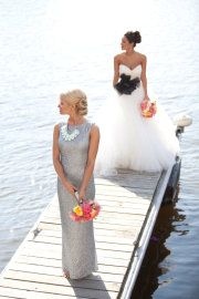 Silver bridesmaid dress...  I LOVE THIS DRESSSSSSSS