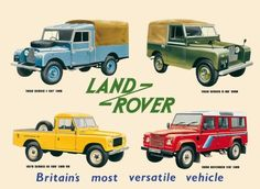 Land Rover Collage Blechschild - AllPosters.at