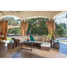 Sirio Matura 10 Piece Outdoor Furniture Set With Pillows Overstock.com