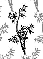 Stencil designs from India, China and Japan - bamboo