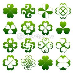 depositphotos_22254937-Abstract-clover-symbol-set.jpg (450×450)