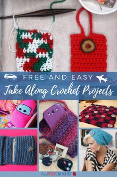 Crochet Projects Whether it's during the holidays or not, when you're traveling anywhere, especially on long flights, you're going to want something to do to keep you busy. Why not bring some free easy crochet patterns to work on? Quick Crochet, All Free Crochet, Crochet Chart, Knitting Blogs, Easy Knitting, Knitting Projects, Knitting Ideas, Holiday Crochet Patterns, Easy Crochet Patterns