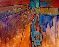 "Southwest Spirit,11054 by Carol Nelson Acrylic ~ 24 x 3Abstract Mixed Media Painting ""Southwest Spirit"" by Colorado Mixed Media Abstract Artist Carol Nelson-http://carolnelsonfineart.com/workszoom/290173"