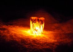 Twig and Toadstool: Let There Be Light ~ Illuminated Ice Lanterns