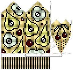 Knitted Mittens Pattern, Knit Mittens, Knitting Patterns, Gloves, Diagram, Sewing, Children, Crochet, Fair Isles