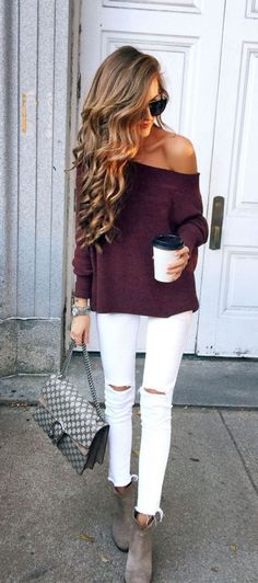 42 Lovely White Pant Outfit Ideas For Fall That Make You Look Elegant