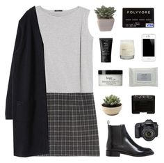 """""""kids are still depressed when you dress them up"""" by pure-and-valuable ❤ liked on Polyvore featuring MANGO, Yves Saint Laurent, NARS Cosmetics, philosophy, Eos, Le Labo and Stila"""