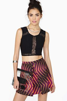 Dark Safari Crop Top BLACK
