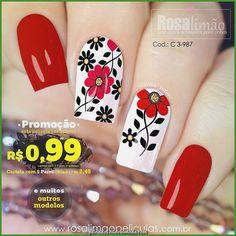 What Christmas manicure to choose for a festive mood - My Nails Flower Nail Designs, Diy Nail Designs, Flower Nail Art, Nail Art Designs Videos, French Tip Nails, Nail Decorations, Fabulous Nails, Winter Nails, Summer Nails