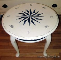 Image result for painted compass on a demi lune