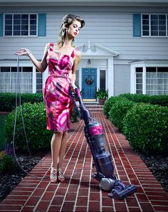 john mireles - The 'Subversive Housewives' series by San Diego-based artist John Mireles is equal parts fashion photoshoot and conceptual photography. Pin Up Photography, Fashion Photography, Die Frauen Von Stepford, Bored Housewives, Desperate Housewives, Miles Aldridge, Paris Mode, Mode Editorials, Domestic Goddess