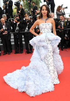 Lana El Sahely in Ralph & Russo Fall 2016 Couture attends the 'The Killing Of A Sacred Deer' screening during the 70th annual Cannes Film Festival at Palais des Festivals on May 22 2017