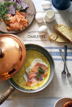 Smoked Salmon Omelettes