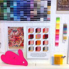The cari + carl studio colour wall... www.cariandcarl.com
