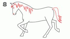 Easy animals drawings animals drawings for kids and start drawing like this architectural digest easy cartoon Easy Animal Drawings, Simple Line Drawings, Outline Drawings, Horse Drawings, Easy Drawings, Book Drawing, Drawing Lessons, Drawing Tips, Art Lessons