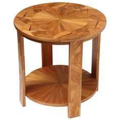 Rare Art Deco Two-Tiered Straw Marquetry Side Table by André Groult | From a unique collection of antique and modern side tables at http://www.1stdibs.com/furniture/tables/side-tables/