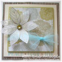 Holiday Card Challenge October2011B by rba0422, via Flickr. Vellum flower.