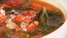 Giada's winter minestrone... and you can do variations ... i used veggie broth, not beef...that is just too salty, esp when you add the cheese.