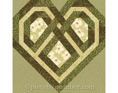 Celtic Heart quilt block paper pieced quilt by PieceByNumberQuilts, $3.50