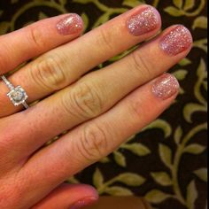 Glitter shellac - got a darker red version of this yesterday & am really surprised at how seriously sparkly it is!
