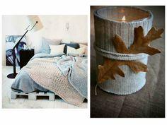 cosas vestidas para el frió, invierno, decoración, velas, lana, Things dressed for it fried, candles, winter, decoration, wool, #decopedia