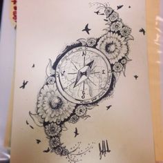 DeviantArt: More Collections Like compass tattoo by Kohlmeisen