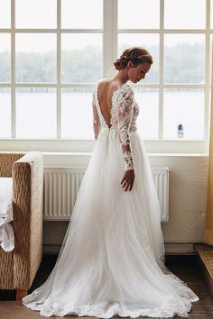 detail + back + long sleeves… Wedding Goals, Wedding Attire, Fishtail Dress, Long Sleeve Wedding, Wedding Wishes, Dream Wedding Dresses, Perfect Wedding, Bridal Gowns, Wedding Styles