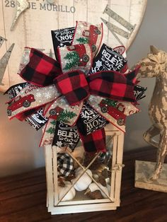 Wreath Bow Home Decor Red Truck Buffalo Plaid Lantern Tree Topper Excited to share the latest addition to my shop: Buffalo Plaid Red Truck Christmas Wreath Bow Lantern Bow Custom Made Christmas Truck, Plaid Christmas, Christmas Tree Toppers, Christmas Home, Christmas Wreaths, Christmas Decorations, Xmas, White Christmas, Christmas Movies