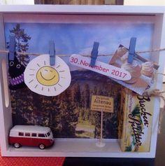 Habe eine Idee genutzt und ein Geschenk zum Geburtstag gebastelt. Es ist eine Tagesfahrt in den Harz. Ist gut angekommen.
