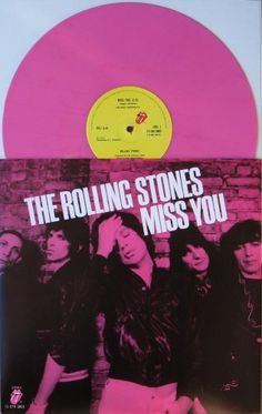 """The Rolling Stones """" MISS YOU """"12 inch PINK VINYL Import Record"""
