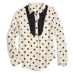 Dotted Tux Shirt/