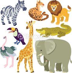 Arte vettoriale : cartoon african animals set