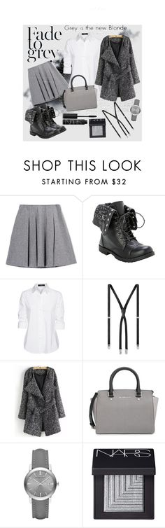 """Grey day"" by ina-kis ❤ liked on Polyvore featuring Dansk, Steffen Schraut, Yves Saint Laurent, MICHAEL Michael Kors, Burberry and NARS Cosmetics"