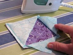 "Easy way to sew a square within a square or ""exploding square"""