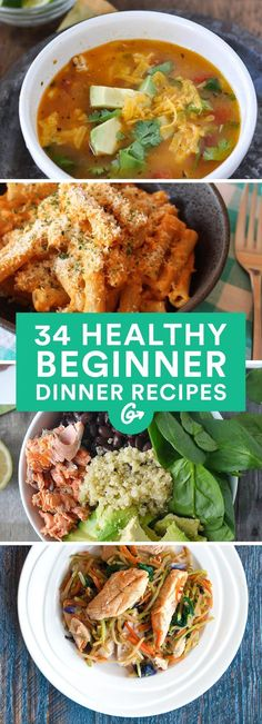 Healthy Dinner Recipes Anyone Can Make These super-simple dishes require little know-how, minimal clean-up, and zero fancy kitchen tools.These super-simple dishes require little know-how, minimal clean-up, and zero fancy kitchen tools. Easy Healthy Dinners, Easy Healthy Recipes, Healthy Cooking, Healthy Snacks, Healthy Eating, Cooking Recipes, Dinner Healthy, Clean Eating Diet, Easy Beginner Recipes