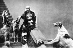 Romanian royal family with borzois.