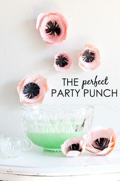 The Perfect Party Punch #Recipe - perfect for a baby shower or any party!