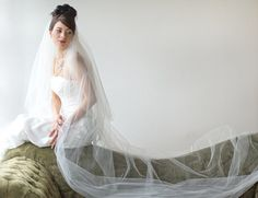 Bridal Veil Traditional Veil  Two Layer by PowderBlueBijoux, $79.00