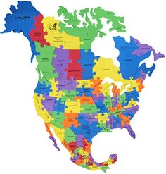 USA Map Puzzle Piece Products Pinterest Puzzle - Us map jigsaw puzzle