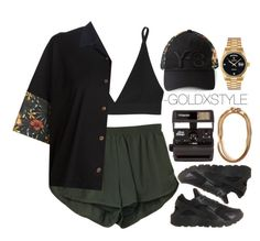 """""""SMOOTH OPERATOR."""" by goldxstyle ❤ liked on Polyvore featuring Y-3, Base Range, NIKE, Polaroid and Rolex"""