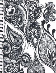 """A woman mourns"" Kelly Bradrick zen doodle"