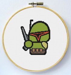 BOBA FETT Cross Stitch Pattern - Instant Download Pdf