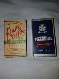 vintage cigarette empty boxes | eBay