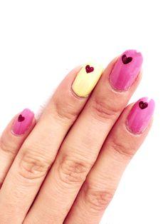 Nail DIY: How to Create Heart Nail Designs