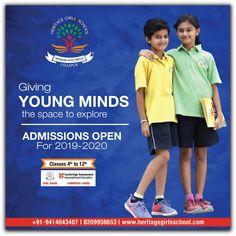 Admissions open at Heritage Girls School Udaipur for Web Banner, Banner Template, Bilboard Design, Heritage School, Girls Boarding Schools, Standee Design, School Advertising, School Brochure, Pamphlet Design