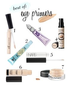 If your Holy Grail of eye make-up is vibrant, long lasting, CREASELESS color, then what you need is an amazing eye primer. All Things Beauty, Beauty Make Up, Beauty Tips, Beauty Stuff, Best Eye Primer, Best Drugstore Eye Primer, Best Eyeshadow Primer, Diy Eyeshadow, Best Makeup Primer