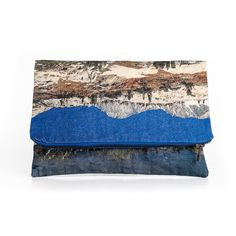 Landscape Fold Over Clutch  California. Travel Zipper by LeeCoren
