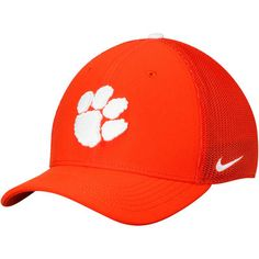 pretty nice 618dd 2d8cc Men s Nike Orange Clemson Tigers Swoosh Performance Meshback Flex Hat