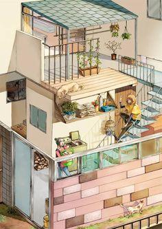 Ai cũng tìm thấy một ngôi nhà trong mơ của mình trong bộ tranh này - Ảnh 1.